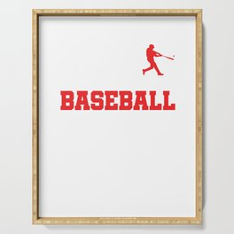 Pitcher Batter League Tournament Baseball Players The Evolution Of Baseball Gift Serving Tray