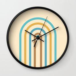 Minimal Geometric Rainbow Arch 03 Wall Clock