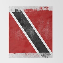 Trinidad and Tobago Distressed Halftone Denim Flag Throw Blanket