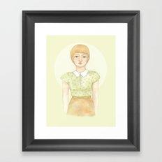 Green blouse Framed Art Print
