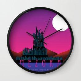 Planet Exploration: Mezora Wall Clock