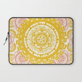 Citrus and Salmon Colored Mandala Textile Laptop Sleeve