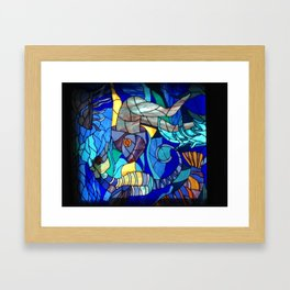 Stained Glass Fish, Cuba Framed Art Print
