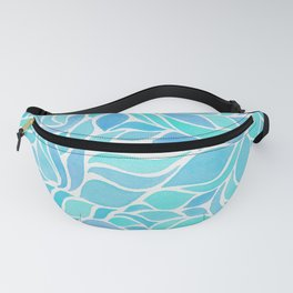 Press of Leaves - Ocean Blue Fanny Pack