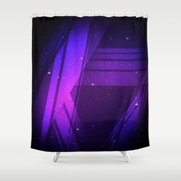 Galaxy Lines Shower Curtain
