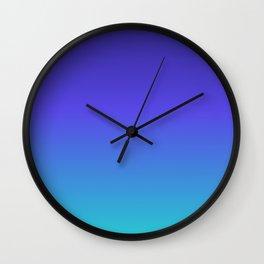 Hipster deep sea gradient Wall Clock