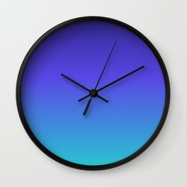Hipster deep sea gradient Wall Clock