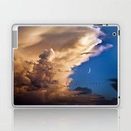 Clouds, Birds, Moon, Venus Laptop & iPad Skin