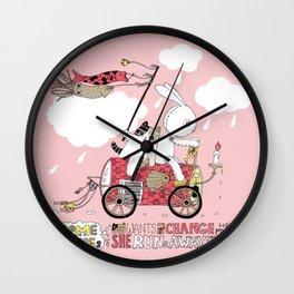 Runs away Wall Clock