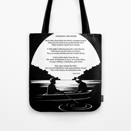 Crossing the Water (poem) by Sylvia Plath Tote Bag