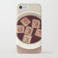 coffee iPhone & iPod Cases featuring COFFEE by elle moss