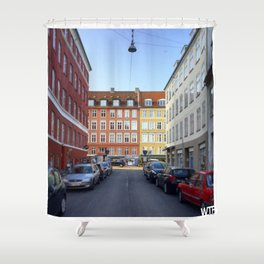 Colours of Vesterbro, Copenhagen Shower Curtain