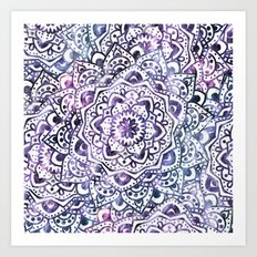 STARRY NIGHT MANDALA Art Print
