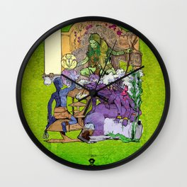 Bloom: An Awakening - The Holy Divinity Marius Janus Gifting the Bloom Shard Wall Clock