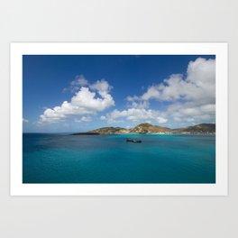 Carribbean Cove Art Print