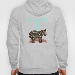 T is for Tapir: Under Appreciated Animals™ ABC nursery decor bright red unusual animals Hoody