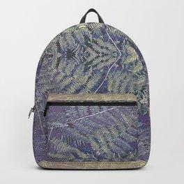 SYMMETRICAL PASTEL PURPLE BRACKEN FERN MANDALA Backpack