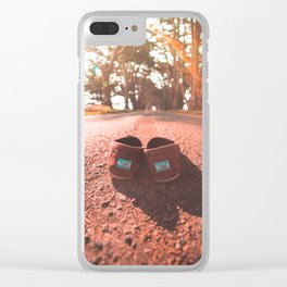 Shoeless & On the Go Clear iPhone Case
