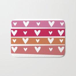 Washi Hearts Bath Mat