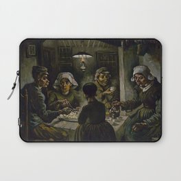 1885-Vincent van Gogh-The potato eaters Laptop Sleeve