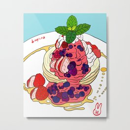 Very Berry Pancakes Metal Print
