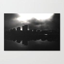 Sleeping in the dark (black v.) Canvas Print