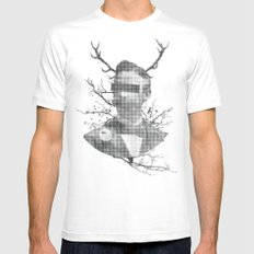 We are all flesh and bone White MEDIUM Mens Fitted Tee