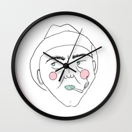 Cigarette Man - blush Wall Clock