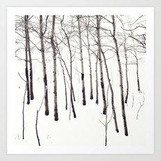 Walk in the White Lightning Wonderland of Winter Art Print