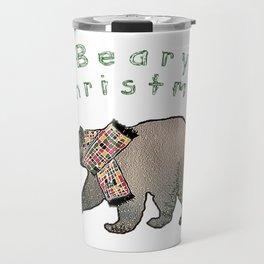 Beary Christmas Watercolor Travel Mug