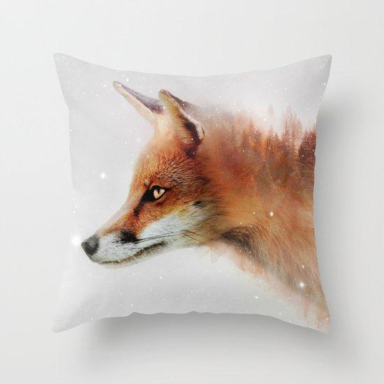 Foxy Love Throw Pillow