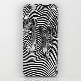Zebra stripes abstract iPhone Skin