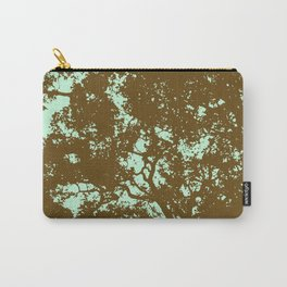 Mint and Brown Forest Carry-All Pouch