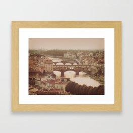 Old Bridge Ponte Vecchio Framed Art Print