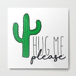 Cactus print with text Metal Print