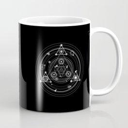 Sacred geometry black and white geometric art Coffee Mug