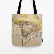 Vincent van Gogh - Self-portrait with straw hat Tote Bag