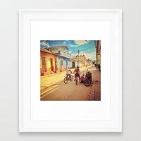 cuba Framed Art Prints featuring Cuba by Anna Andretta
