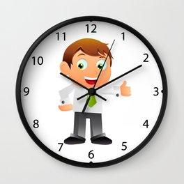Elegant Business man cartoon Wall Clock
