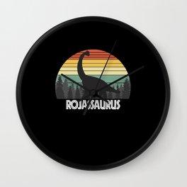 ROJASSAURUS ROJAS SAURUS ROJAS DINOSAUR Wall Clock