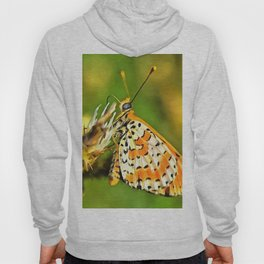 Spotted Fritillary Orange and White Butterfly Hoody