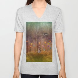 Wonderland Forest Unisex V-Neck