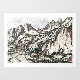 Mountain landscapes at Innsbruck Art Print