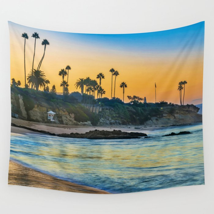 sunrise-colors-at-laguna-beach-wall-tapestry by society6