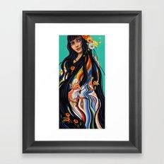 Mexicana Azul Framed Art Print
