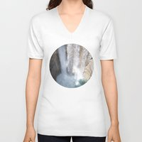allyson johnson V-neck T-shirts featuring Johnson Canyon Waterfall by RMK Creative