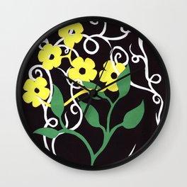 Paper Dasies Wall Clock