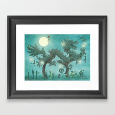 The Night Gardener - Dragon Tree night option  Framed Art Print