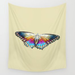 Rainbow Butterfly Wall Tapestry