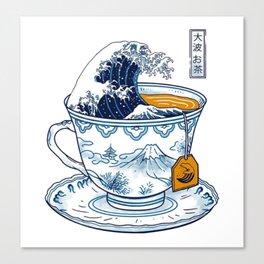 The Great Kanagawa Tea Canvas Print